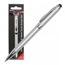 Stylus Capacitive + Ball Pen, silver