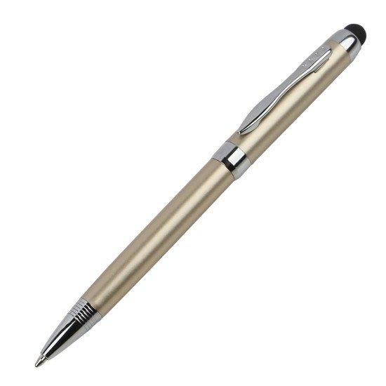 Stylus Kapazitiv + Kugelschreiber, gold Weiche, displayschonende Gummispitze