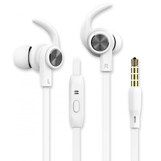 In-Ear Sport Headset SPRY 3.5mm weiß Rufannahme-Taste, Sicherer Tragekomfort