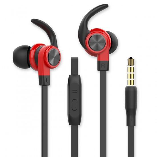 In-Ear Sport Headset SPRY 3.5mm sw / rot Rufannahme-Taste, Sicherer Tragekomfort