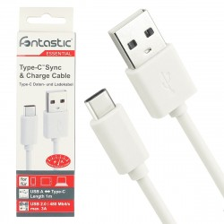 Essential Data cable USB 2.0 A > Type-C white
