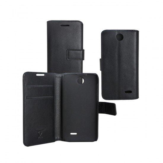 PU Tasche Diary Business schwarz komp. mit HTC Desire 310