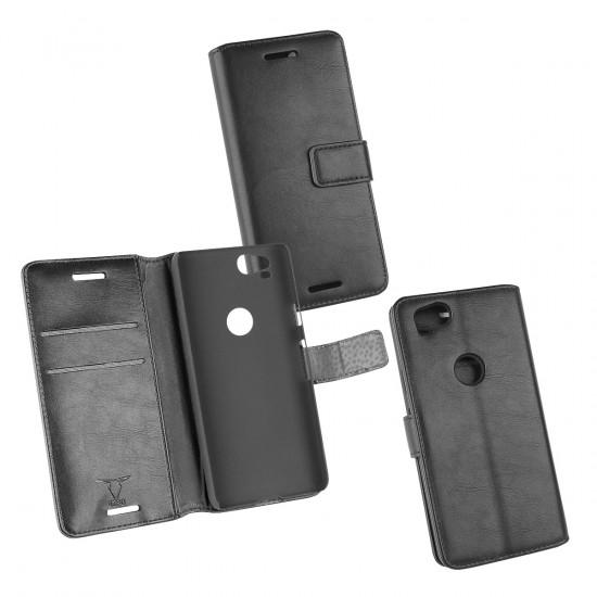 PU Tasche Diary Business schwarz komp. mit Google Pixel 2