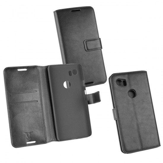PU Tasche Diary Business schwarz komp. mit Google Pixel 2 XL