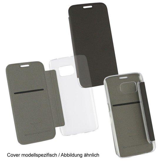 PU Tasche Diary Clear schwarz komp. mit Apple iPhone 7+/8+