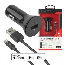 Charge- & Sync Kit Lightning 2.4A black