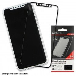 Full Cover Tempered Glass Black comp. with Apple iPhone X XS
