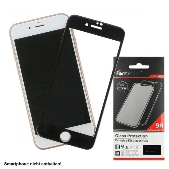 Full Cover Tempered Glass Black comp. with Apple iPhone 12 Pro Max
