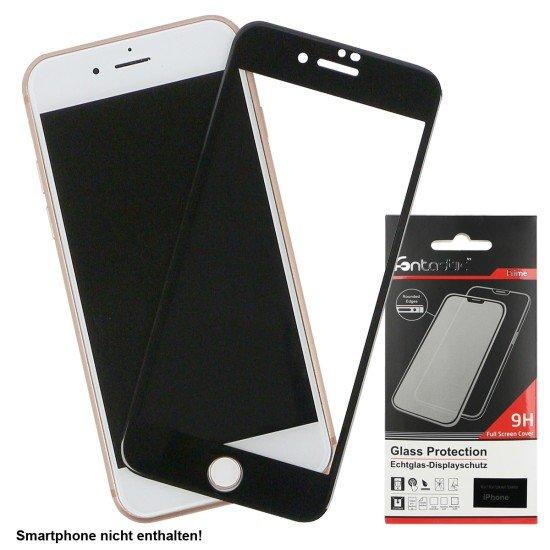 Full Cover Schutzglas Schwarz komp. mit Apple iPhone 7+/8+