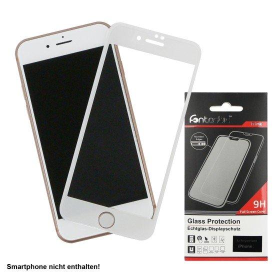 Full Cover Schutzglas Weiß komp. mit Apple iPhone 7/8/SE 2020