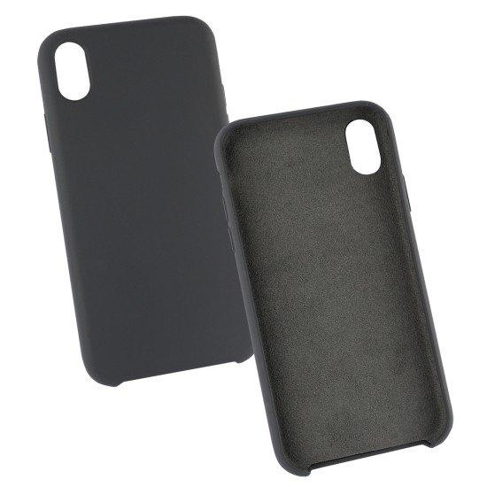 Silikon Komplett Gefütterte Schutzhülle schwarz komp. mit Apple iPhone XR