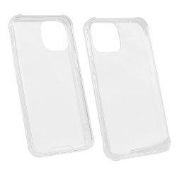 Hybridcover Clear mit Kantenschutz, TPU + PC komp. mit Apple iPhone 12 mini - 5,4'