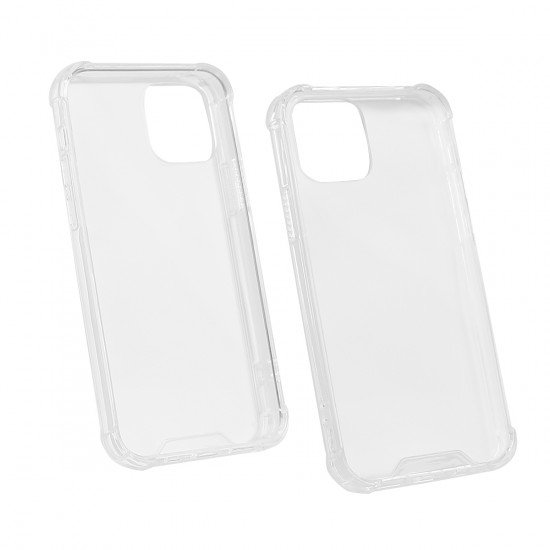 Hybridcover Clear mit Kantenschutz, TPU + PC komp. mit Apple iPhone 12/12 Pro  - 6,1'
