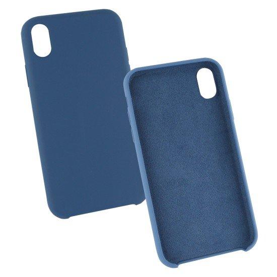 Silikon Komplett Gefütterte Schutzhülle blau komp. mit Apple iPhone XR