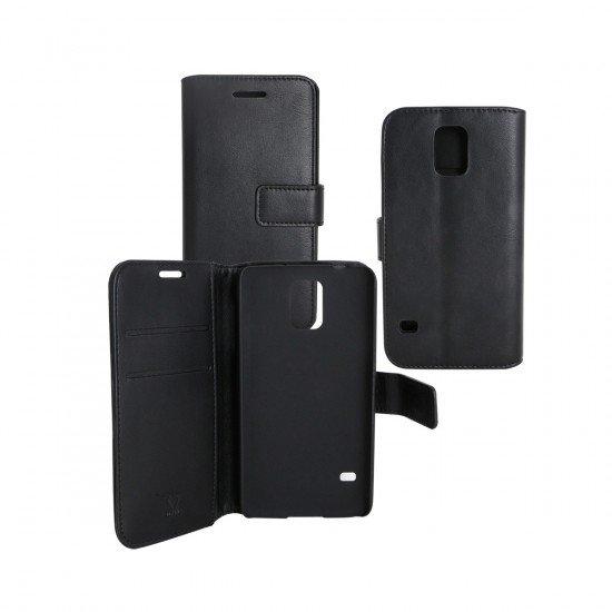 PU Tasche Diary Business schwarz komp. mit Samsung Galaxy J6 (2018)