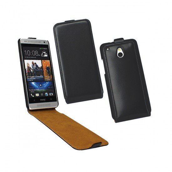 Tasche Flip schwarz komp. mit HTC One Mini