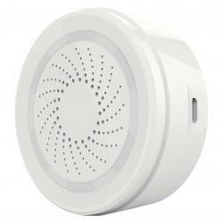 WLAN Alarm Sirene weiß, 90db, 8 Sounds, Alarm-LED komp. zu Android, iOS