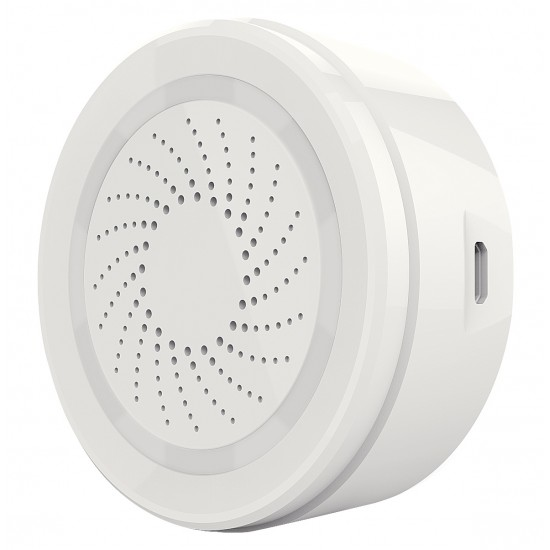 WLAN Alarm Sirene weiß, 90db, 8 Sounds, Alarm-LED komp. zu Android, iOS
